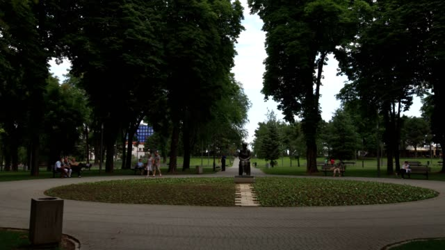 public park in belgrad (establishing shot) - hungarian culture stock videos & royalty-free footage
