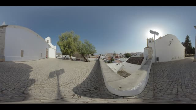 public park in the city of tavira in portugal - monoscopic image stock videos & royalty-free footage