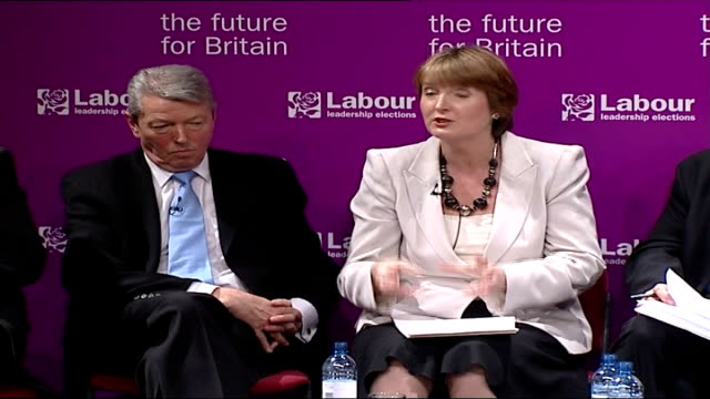 public schools urged to help deprived comprehensives england bristol int alan johnson mp and harriet harman mp at hustings meeting alan johnson mp... - alan johnson stock videos & royalty-free footage