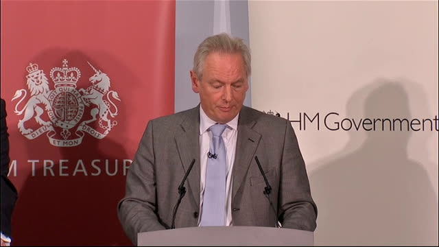 public sector pension reform: treasury press conference; alexander answering questions sot - on the withdrawl of the gmb letter / it was not a text... - main course stock videos & royalty-free footage
