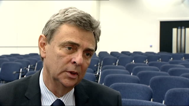 public sector pension reform: unison call to support strike action; int 2 shots reporter sitting with dave prentis dave prentis interview sot -... - strike industrial action stock videos & royalty-free footage