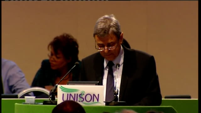unison call to support strike action prentis speech and like our president i'm proud to welcome our international guests our comrades in arms the... - union army stock videos & royalty-free footage