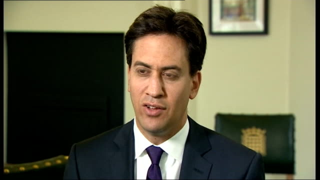 Public sector strike goes ahead / Government plans to clamp down on future strikes London INT Ed Miliband MP interview SOT Nobody wants to see these...
