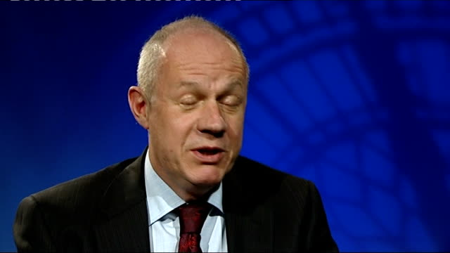 Thousands of workers take part in oneday strike over pensions ENGLAND London INT Damian Green MP interview SOT Strike is completely unnecessary /...