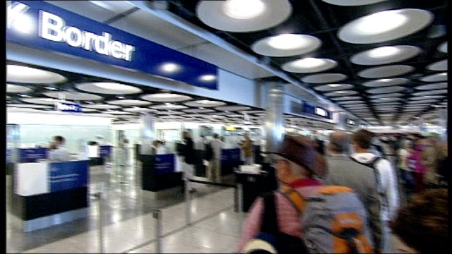 public sector workers prepare for national strike over pension reforms r14061001 london heathrow sign for 'uk border' pan airline passengers queuing... - pension stock videos & royalty-free footage