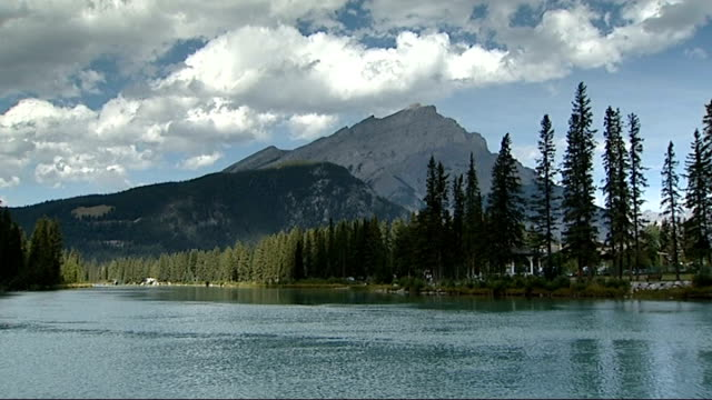 government takes inspiration from canadian experience; 7.9.2009 canada: rocky mountains: ext general views mountain scenery - rocky mountains stock videos & royalty-free footage