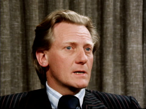 Michael Heseltine interview ENGLAND INT Michael Heseltine MP interview SOT Well the wastage in local government terms is running at 5 per cent a year...