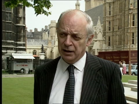 Westminster CMS John Biffen intvw SOF arguments for increased spending on NHS transport infrastructure MS Labour Treasury spokesman Gordon Brown LR...