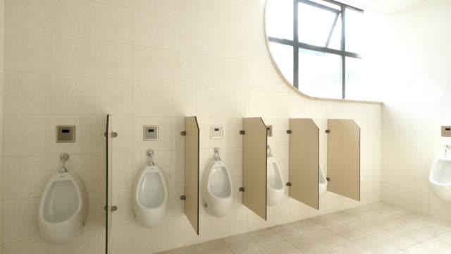 公衆トイレ インテリア - 小便器点の映像素材/bロール