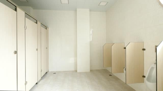 public toilet interior - public restroom stock videos and b-roll footage