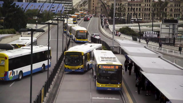 public transport - bus traffic jam - public transport stock videos & royalty-free footage