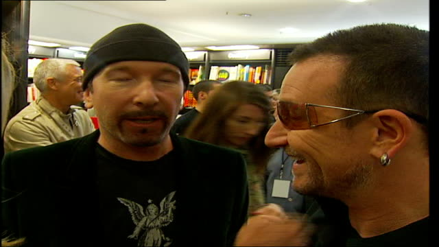 u2 publish new book 'u2 by u2' the edge interview sot on how intelligent and smart u2's fans are - david 'the edge' howell evans stock videos and b-roll footage
