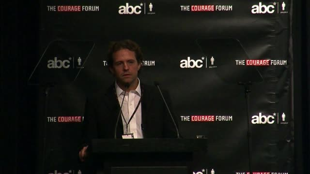 publisher of poder international nicolas ibarguen at the the americas business council foundation presents the 2010 courage forum at new york ny - poder点の映像素材/bロール
