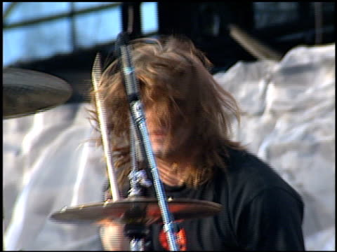 puddle of mud at the kroq's weenie roast on june 15 2002 - kroq weenie roast stock videos & royalty-free footage