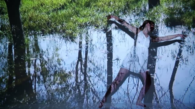 puddle projection upon a female dancer - projection stock videos & royalty-free footage