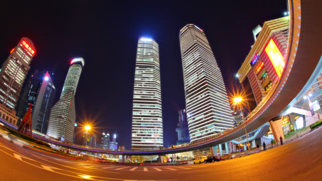 pudong financial district - postmodern stock videos and b-roll footage