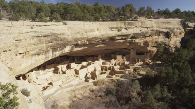 pueblo indian ruins - mesa verde national park stock videos & royalty-free footage