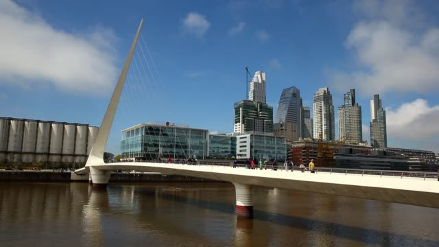 Puente de la Mujer is seen on September 30 2014 in Buenos Aires Argentina