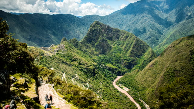 puerta del sole machu picchu - tourism stock videos & royalty-free footage
