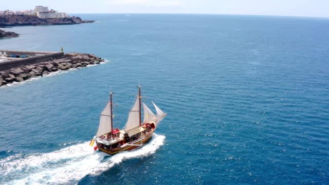 puerto de los gigantes aerial view - boundary stock videos & royalty-free footage