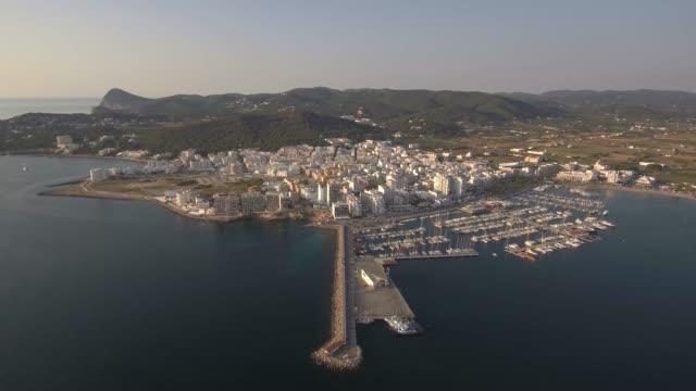 puerto de san antonio, ibiza - bay of water stock videos & royalty-free footage