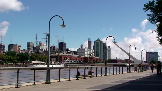puerto madero - buenos aires, argentina - buenos aires stock videos and b-roll footage