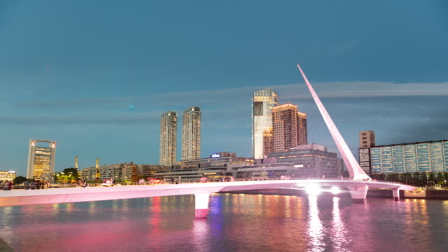 puerto madero buenos aires time lapse - argentina stock videos & royalty-free footage