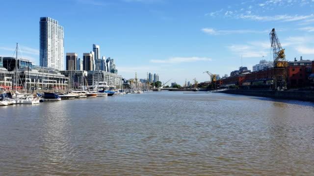 puerto madero in buenos aires, argentina - puente de la mujer stock videos & royalty-free footage