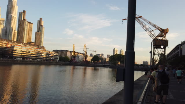 puerto madero in buenos aires, argentina - puerto madero stock videos & royalty-free footage