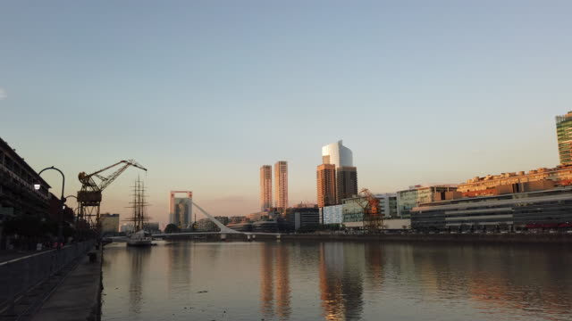 puerto madero in buenos aires in argentina - puerto madero stock videos & royalty-free footage