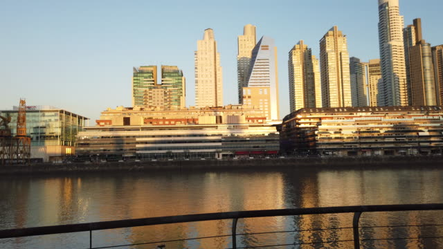 puerto madero in buenos aires - puerto madero stock videos & royalty-free footage