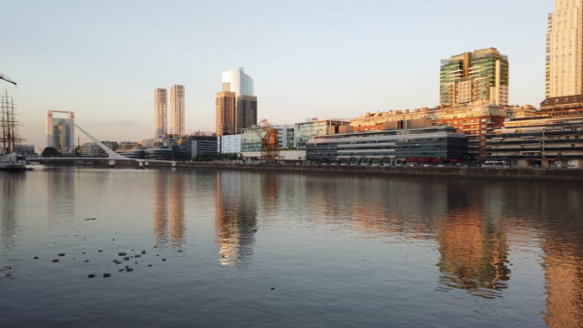 puerto madero in buenos aires,south america - puerto madero stock videos & royalty-free footage