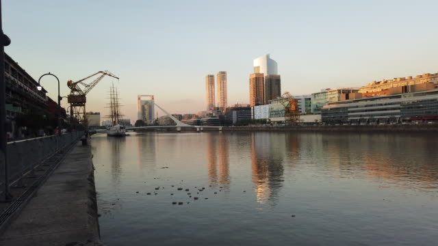 puerto madero of buenos aires - puerto madero stock videos & royalty-free footage