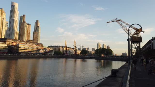 puerto madero - puerto madero stock videos & royalty-free footage
