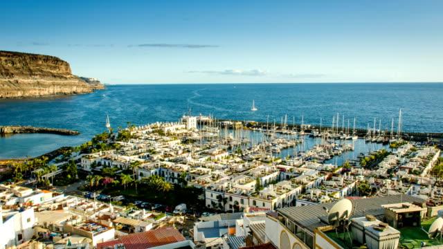 puerto mogan - grand canary stock videos & royalty-free footage