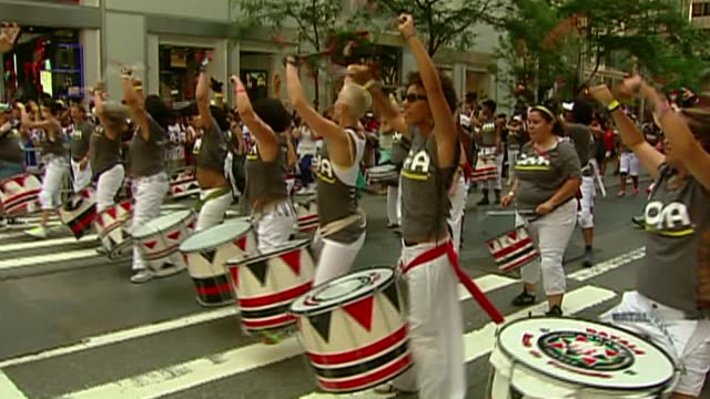 puerto rican day parade on june 09, 2013 in new york, new york - puerto rican ethnicity stock videos & royalty-free footage