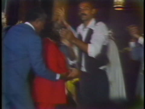 puerto rican nationalist lolita lebron arrives at a celebration in new york city following her release from prison. - puerto rican ethnicity stock videos & royalty-free footage