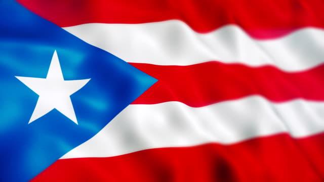 vídeos y material grabado en eventos de stock de bandera de puerto rico - bandera