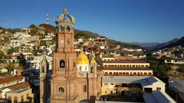 puerto vallarta mexico - crane shot stock videos & royalty-free footage