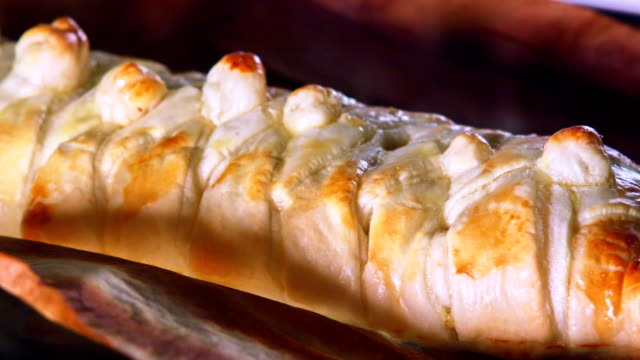 puff pastry being baked in the oven - time lapse - pastry dough stock videos & royalty-free footage