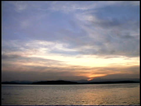 puget sound at dawn, washington - puget sound stock videos & royalty-free footage