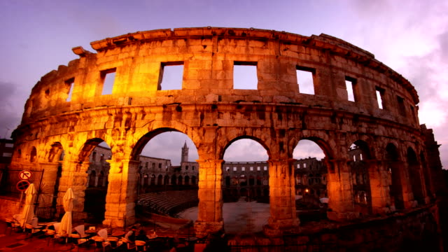 pula arena croatia - roman stock videos and b-roll footage