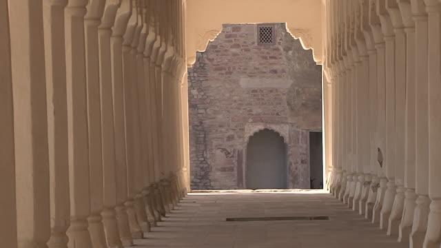 Pull Back Corridor Ahhichatragarh Fort Nagaur Rajasthan India