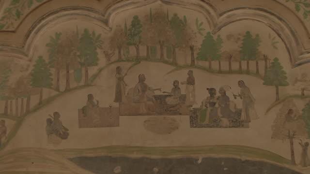 pull back interior ahhichatragarh fort nagaur rajasthan india - female likeness stock videos & royalty-free footage
