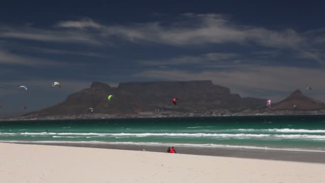 Pull back of Table Mountain from Bloubergstrand
