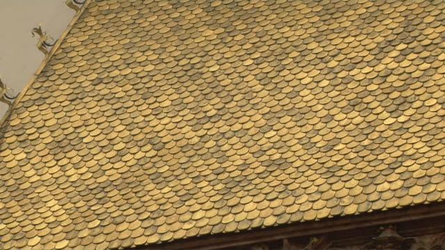 pull back shot golden roof innsbruck tyrol austria - golden roof stock videos and b-roll footage