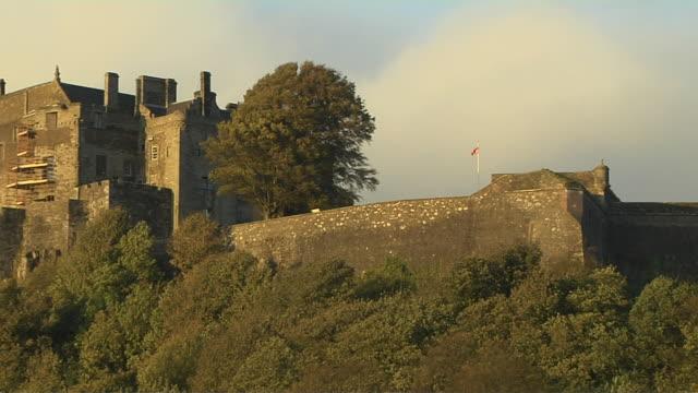 Pull Back Shot Stirling Castle Stirling Scotland United Kingdom