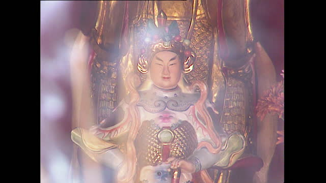 pull focus incense and smoke around religious shrine; 1996 - 1996 stock videos & royalty-free footage