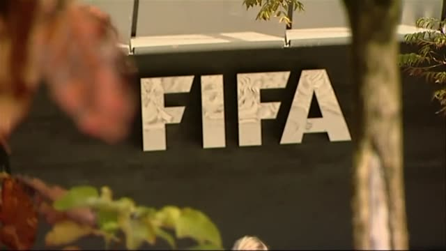 pull focus on exterior of fifa headquarters - fifa stock videos & royalty-free footage