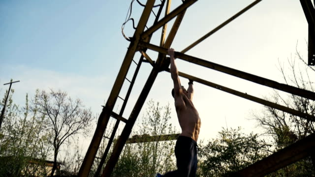 pull ups - pull ups stock videos & royalty-free footage
